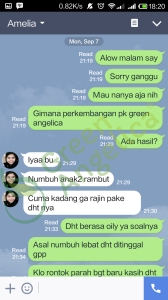 Testimoni Green Angelica, Penumbuh Rambut 1