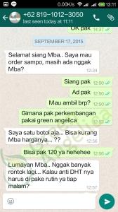 Testimoni Green Angelica, Penumbuh Rambut 2