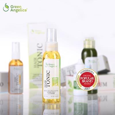 green angelica hair growth accelerator, hair tonic penumbuh rambut botak,obat rambut botak